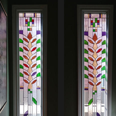 Abstract Tree Stained Glass Windows