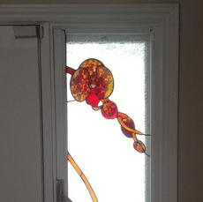 Orchid Stained Glass Window