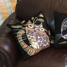 Zentangle Velveteen or Canvas Pillows