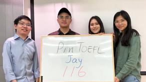 【心得】托福一戰116 真心推薦Pin TOEFL的客製化密集衝刺