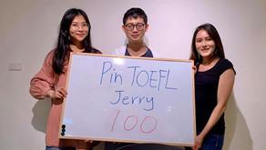 【心得】托福卡關終於破百推Pin TOEFL家教班+ 進階班