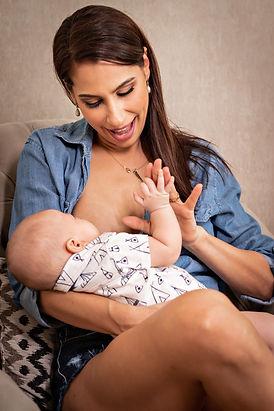Small child breastfeeding