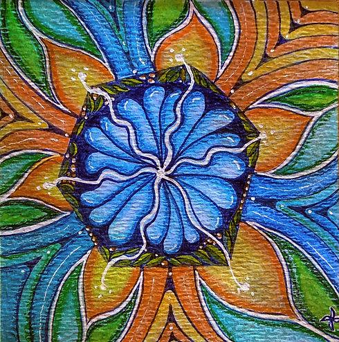 Mandala in the Square Orange & Blue.jpg