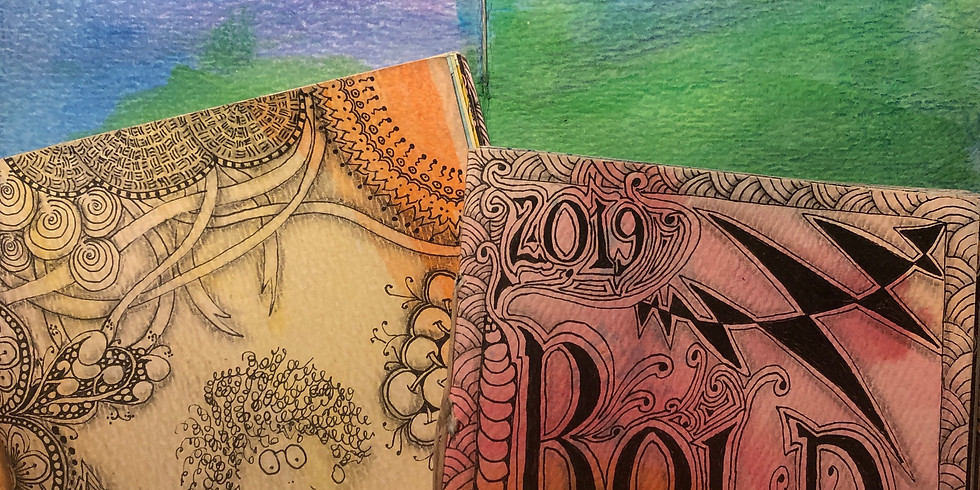 Make Your Own Watercolored Zentangle®Journal