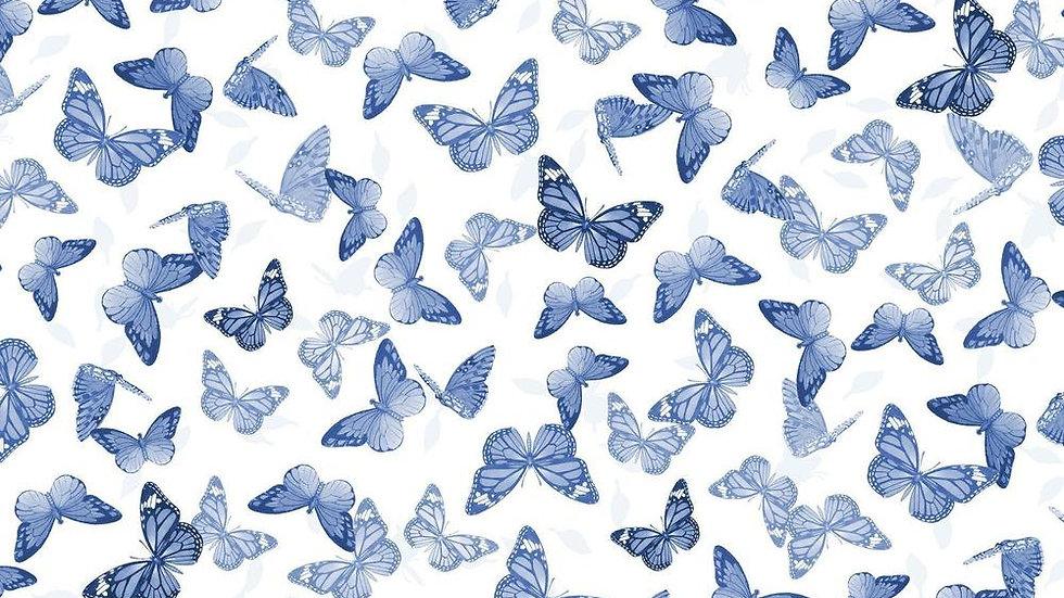 Chinoiserie Garden - Butterflies (per m)