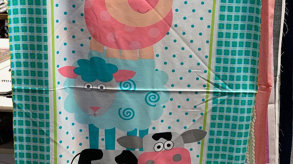'Moo' Fabric Panel