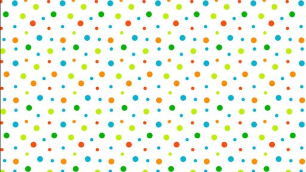 Toadally Cool Dots White (per m)