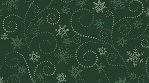 Winter Elegance Swirling Frost Green (per m)