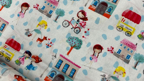'Girls Outing' - The Craft Cotton Co (per m)