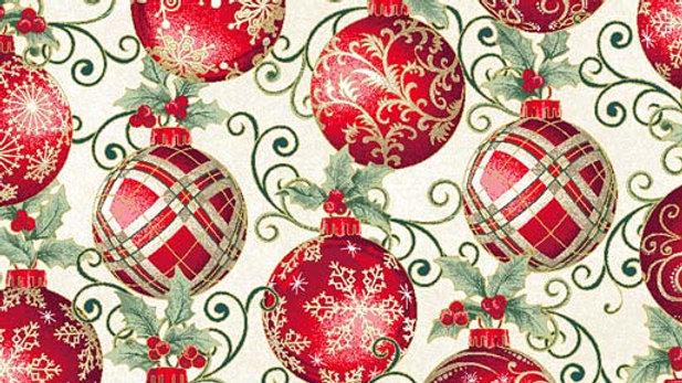 Winter Elegance Ornaments Natural (per m)