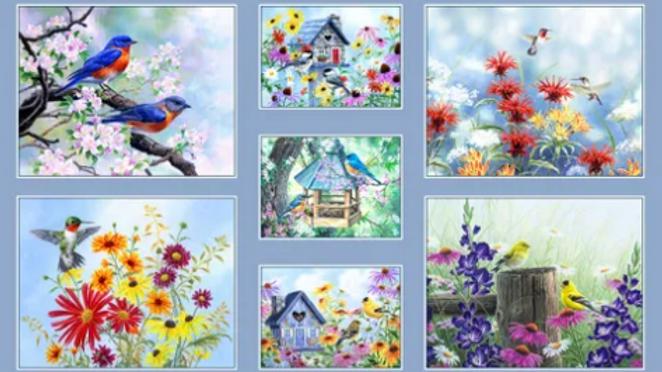 'Song Birds' Panel