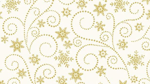 Winter Elegance Swirling Frost Natural (per m)