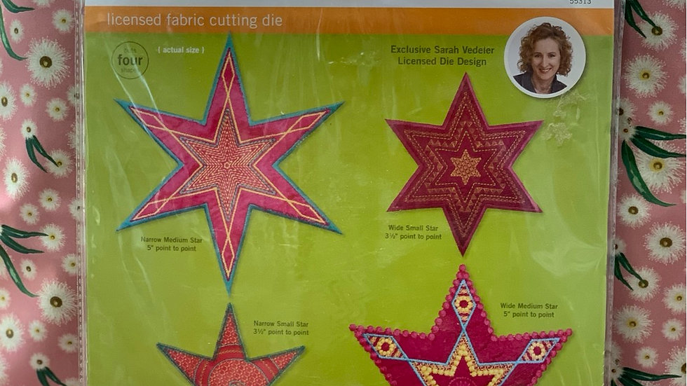 Star Medley 6 Point GO! Fabric Cutting Die 55313