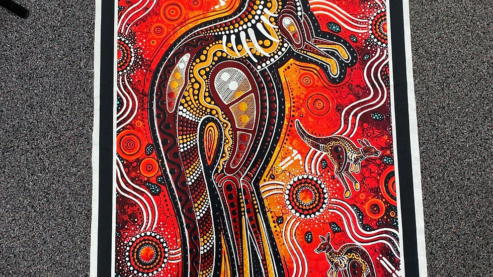 """Kangaroo Dreaming"" Panel - Spirit of the Bush Collection"