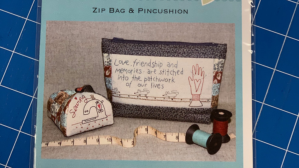'Love & Friendship' Zip Bag & Pincushion Pattern - The Birdhouse