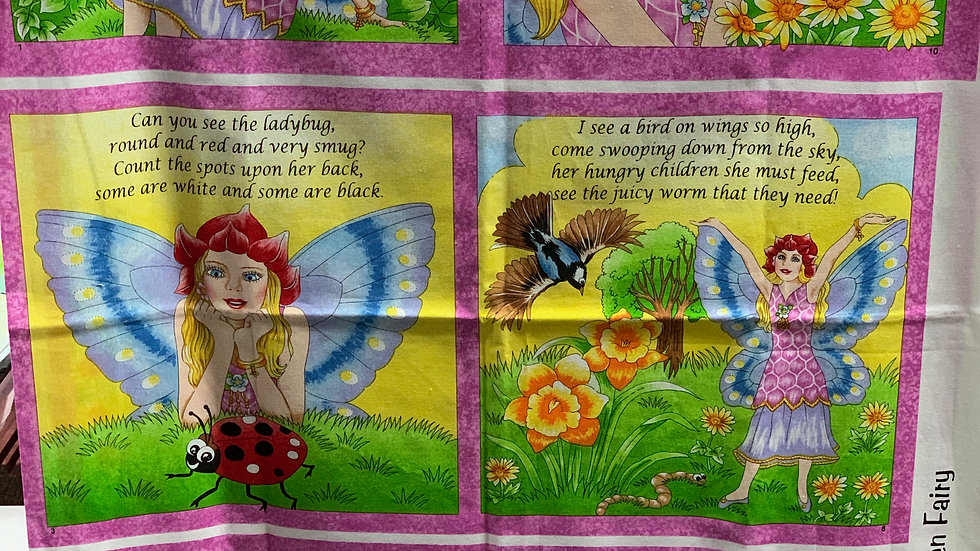 'Fairies' Fabric Panel