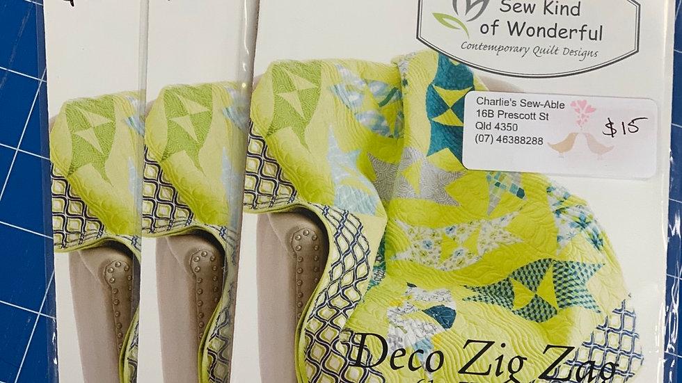 'Deco Zig Zag' Quilt Pattern