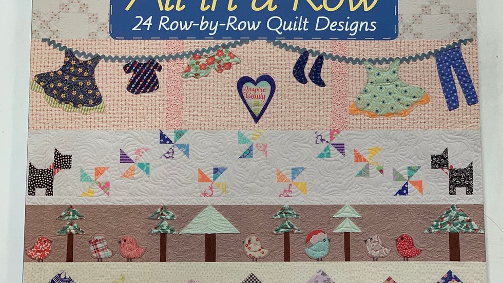 24 Row-by-Row Quilt Designs Book