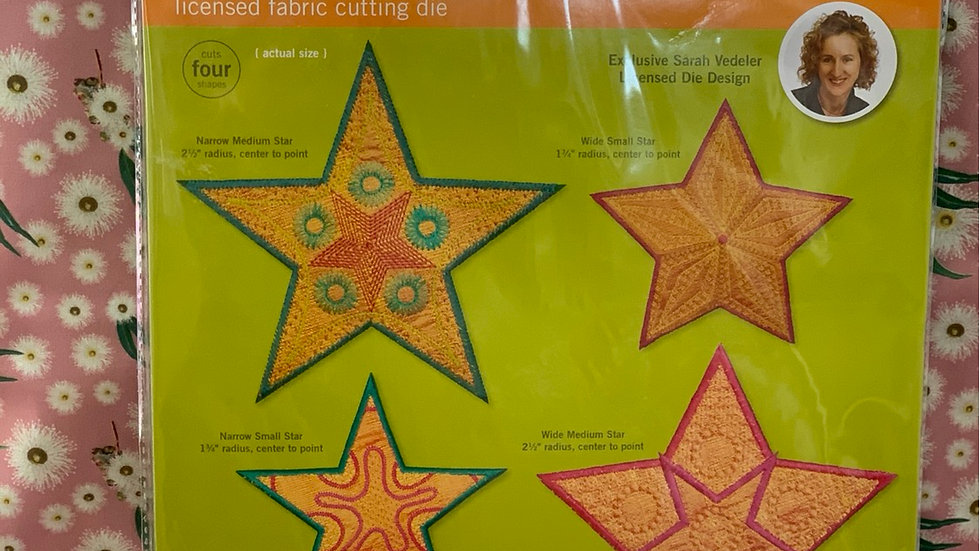 Star Medley 5 Point GO! Fabric Cutting Die