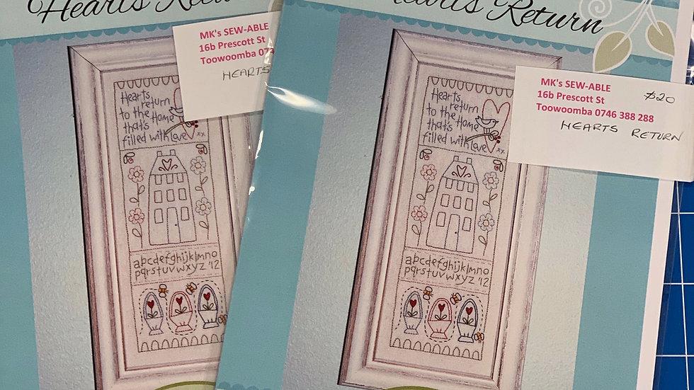 'Hearts Return' Pattern - The Birdhouse