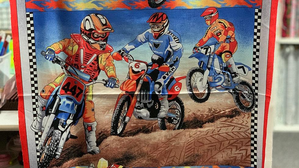 'Motorcross' Fabric Panel