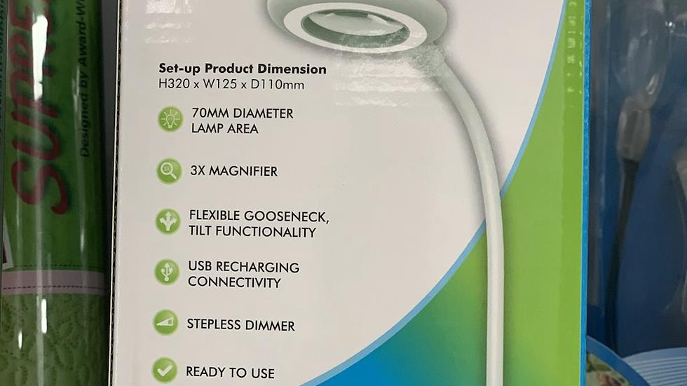 Desktop Lamp Rechargable Magnifying LED