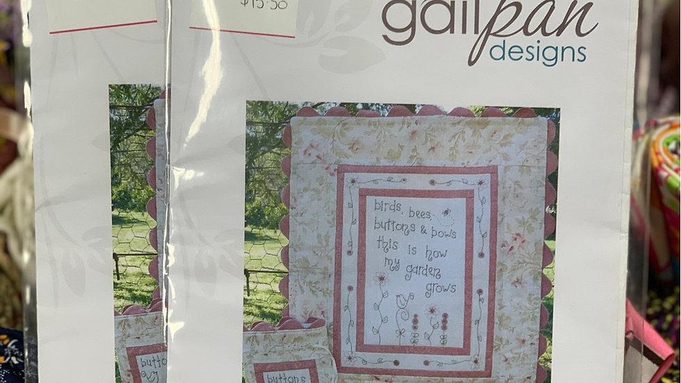 'Buttons & Bows' Pattern - Gail Pan Designs