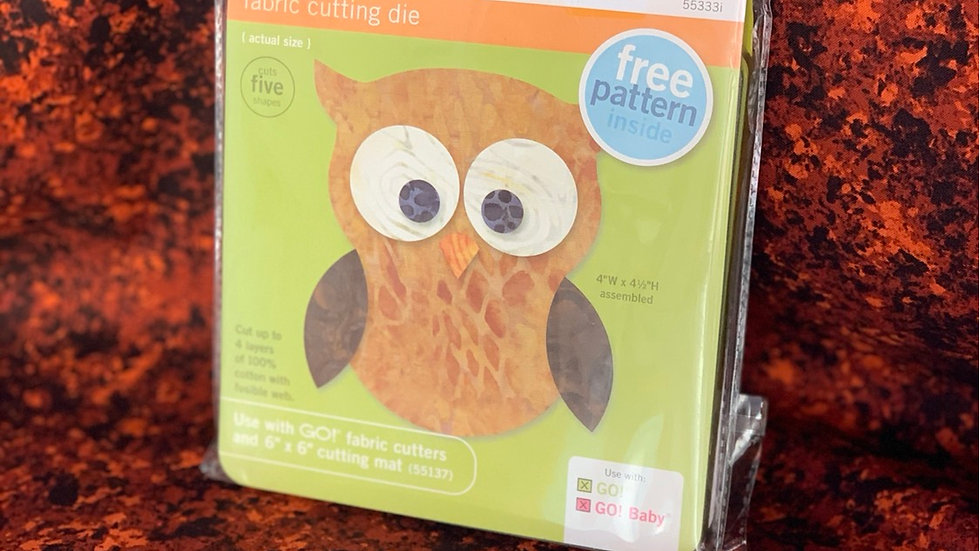 Owl GO! Fabric Cutting Die