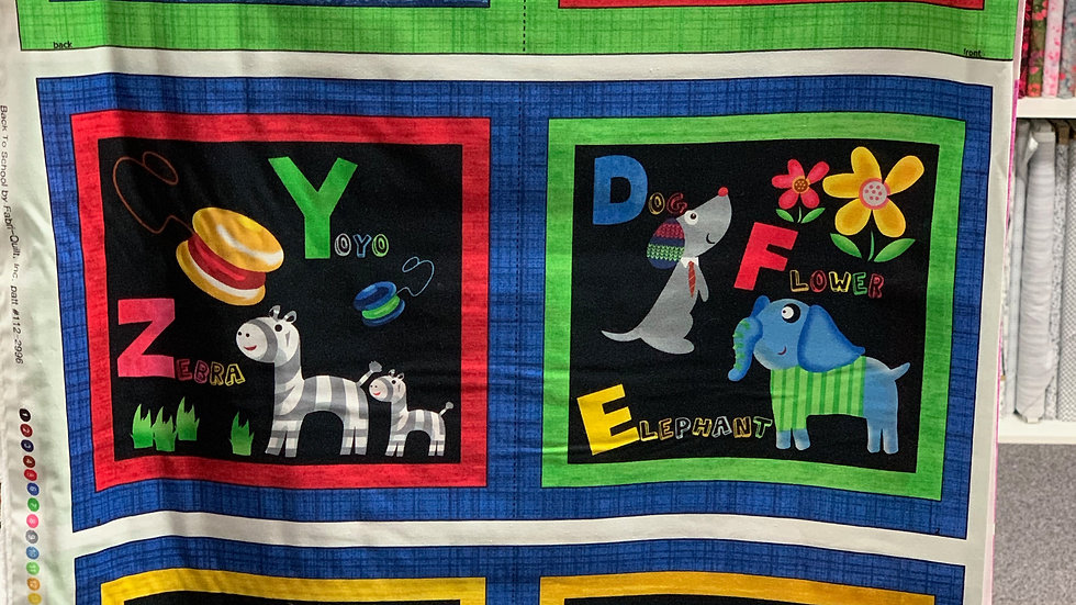'Back to School' Fabric Panel