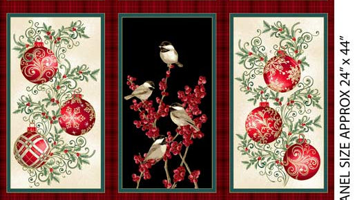 Winter Elegance Ornaments Panel (ea)