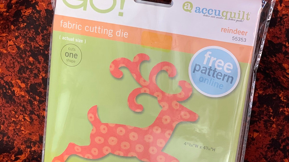 Reindeer GO! Fabric Cutting Die
