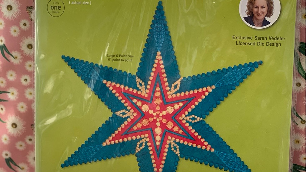 Star 6 Point GO! Fabric Cutting Die 55312