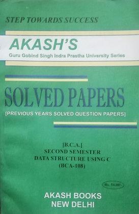 BCA 108 Data Structure using C - 2nd Sem BCA GGSIPU Akash's Solved | BooQs.in