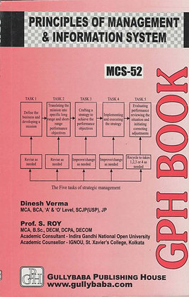 MCS-52 - Principles of Management & Information Systems | GPH |BooQs.in