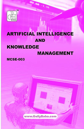 MCSE-3 - Artificial Intelligence & Knowledge Management | GPH |BooQs.in