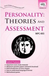 MPC-003 Personality:Theories & Assessment | Gullybaba IGNOU Helpbook | BooQs.in