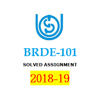BRDE-101 Solved Assignment 2018-19 | IGNOU BDP | BooQs.in
