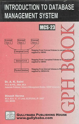 MCS-23 Intro to Database Management Sys | Gullybaba IGNOU Helpbook | BooQs.in