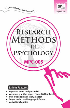 MPC-005 Research Methods in Psychology | Gullybaba IGNOU Helpbook | BooQs.in