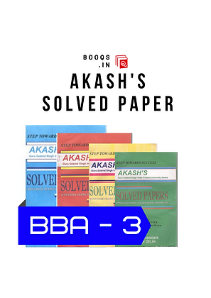 GGSIPU BBA Third Semester full Set of Akash's Solved Papers | BooQs.in