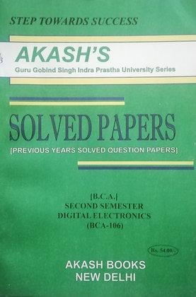 BCA 106 Digital Electronics 2nd Sem BCA GGSIPU Akash's Solved Paper | BooQs.in