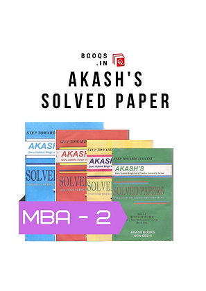 GGSIPU MBA Second Semester full Set of Akash's Solved Papers | BooQs.in