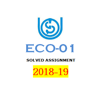 ECO-1 Solved Assignments [2018-19]