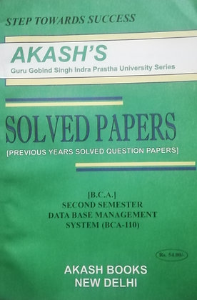 BCA-110 DBMS - Second Sem BCA GGSIPU Akash's Solved Paper | BooQs.in