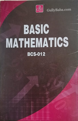 BCS-12 Basic Mathematics | Gullybaba IGNOU Helpbook | BooQs.in