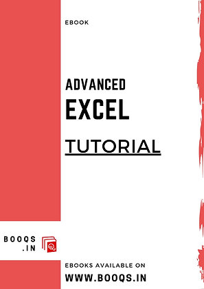 Advanced Excel Tutorial - ebook by BOOQS.IN