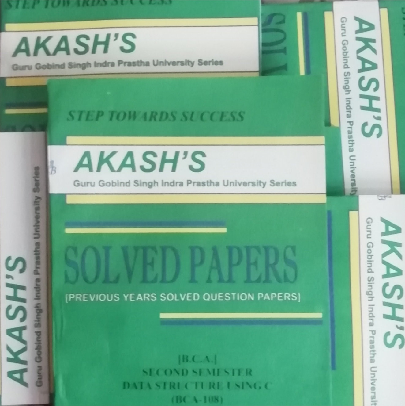 GGSIPU BCA Second Semester full Set of 5 Akash's Solved Papers | BooQs in