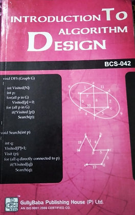 BCS-42 Introduction to Algorithm Design | Gullybaba IGNOU Helpbook | BooQs.in