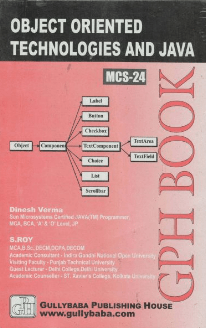 MCS-24 - OOT and Java Programming | IGNOU HelpBook | GPH |BooQs.in