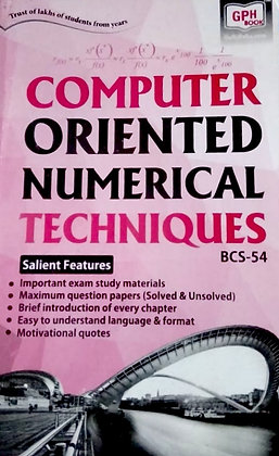 BCS-54 Computer Oriented Numerical Techniques | GPH IGNOU Helpbook | BooQs.in